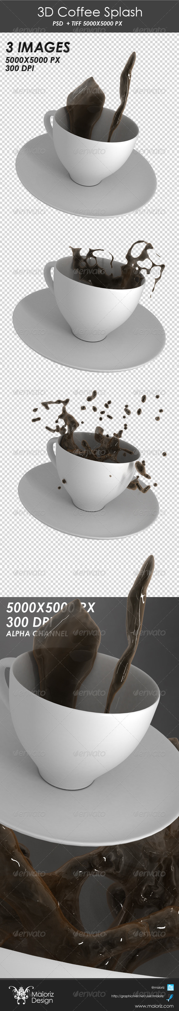 3D Coffee Splash - Objects 3D Renders