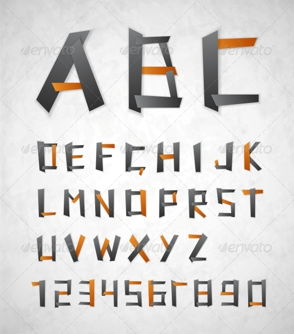 GraphicRiver Alphabet from Paper 4572923