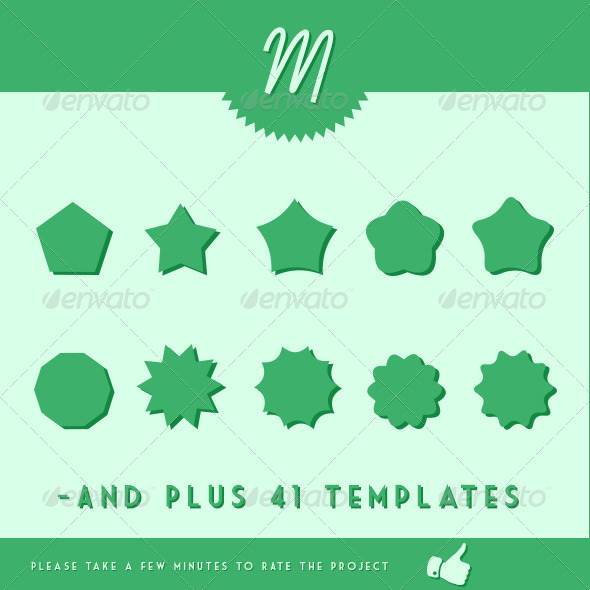 GraphicRiver Templates for Badges 4573564