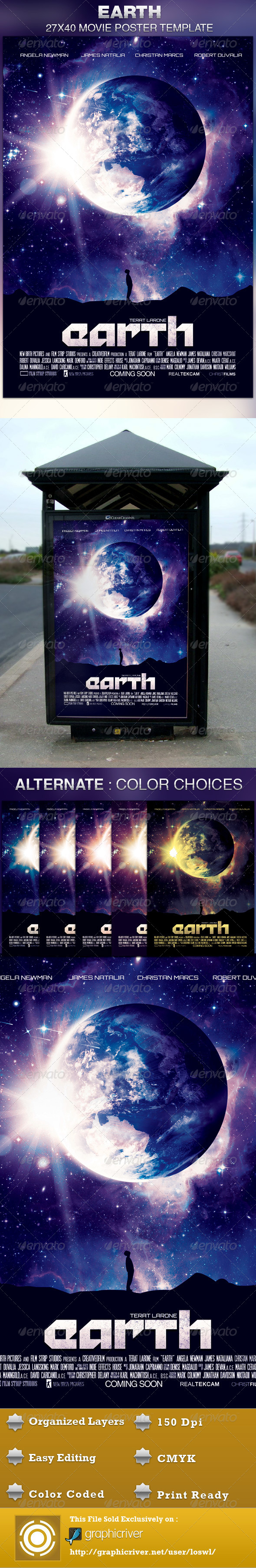 Earth Movie Poster Template - Church Flyers