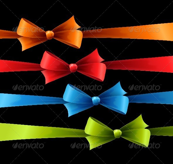 GraphicRiver Set of Colored Bow 4574241