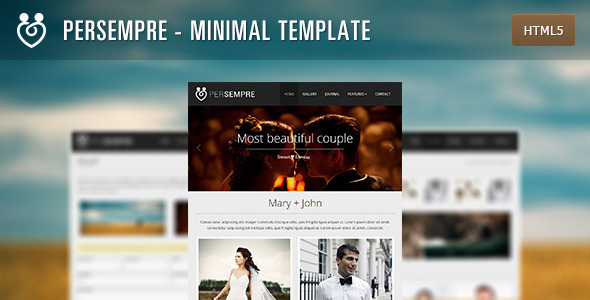 PerSempre - Minimal Event Template - Events Entertainment