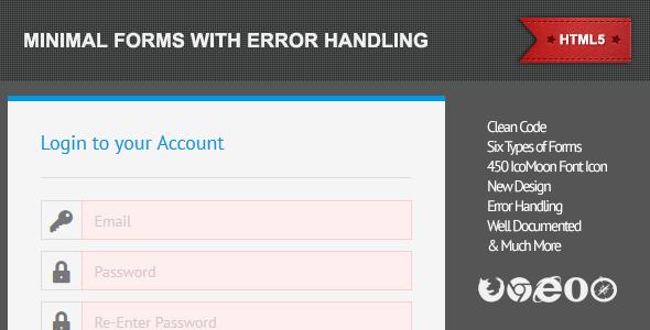 CodeCanyon Minimal Forms 3090192