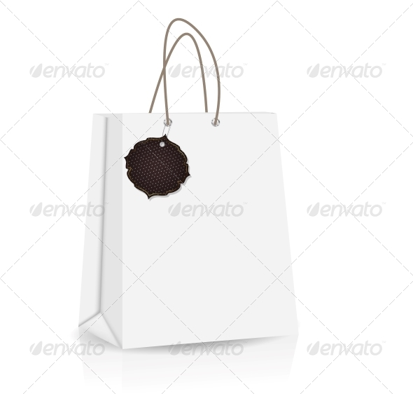 GraphicRiver Empty Shopping Bag with Label 4574399