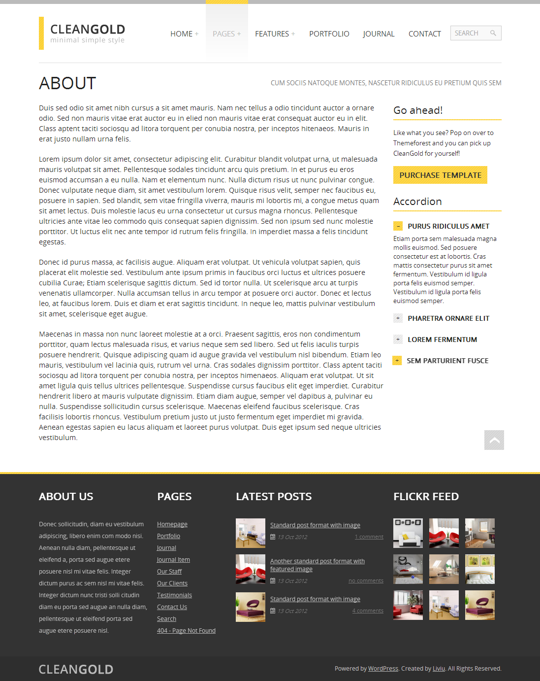 CleanGold - Responsive Site Template