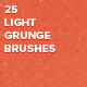 25 Light Grunge Photoshop Brushes - GraphicRiver Item for Sale