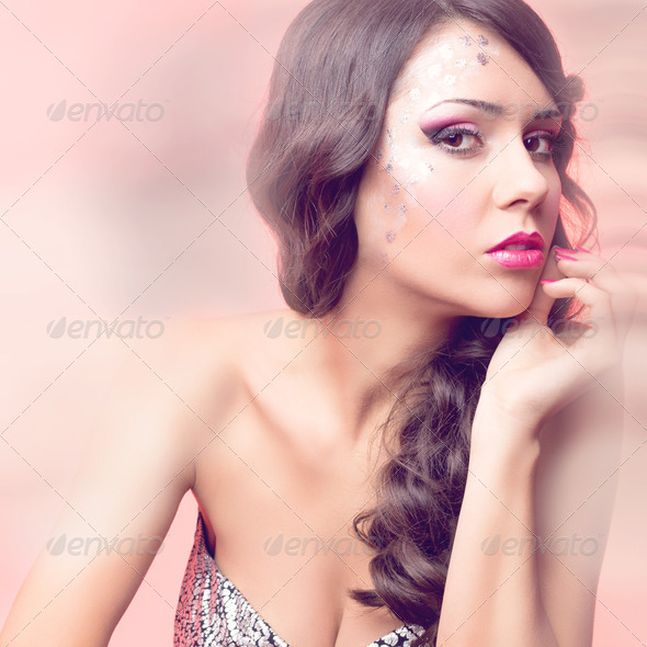 Sparkling and glowing beauty - Stock Photo - Images