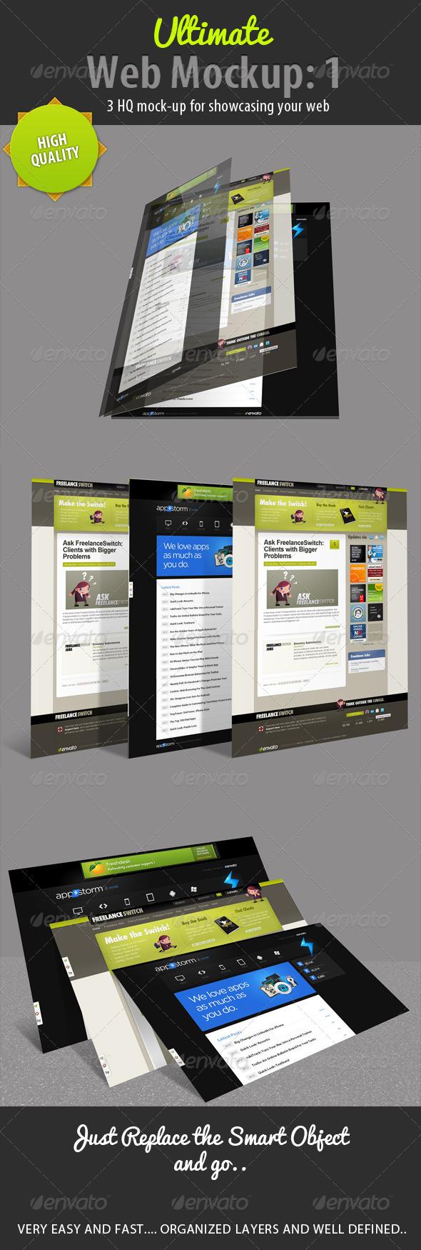 GraphicRiver Ultimate Web Mockup Pack 1 4575530