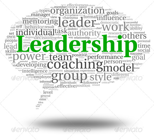 Leadership concept in word tag cloud - Stock Photo - Images