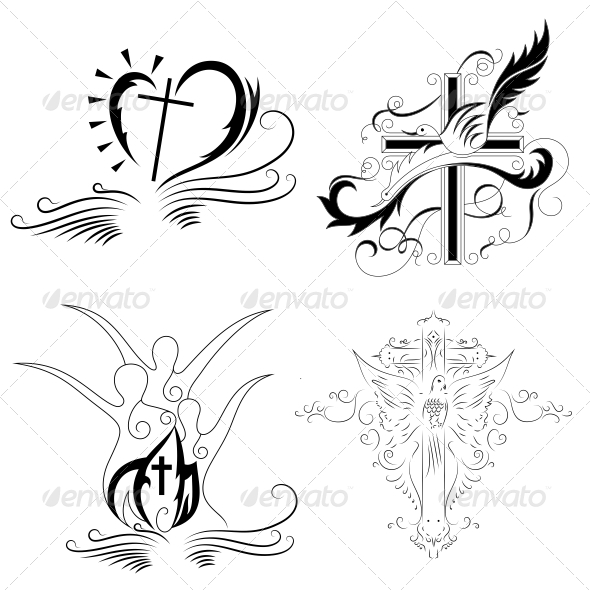 GraphicRiver Christian Cross Religious Vector Designs Pack 4575799