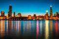 Chicago Downtown - Night Skyline  - PhotoDune Item for Sale