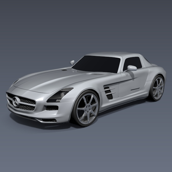 3DOcean Mercedes-Benz SLS 2011 amg sports car 4576838
