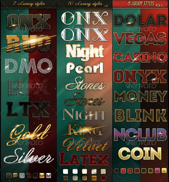 GraphicRiver Bundle 25 Luxury Styles 4576983