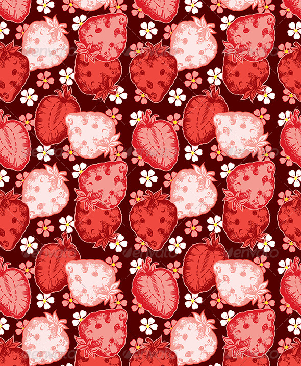 GraphicRiver Strawberry Seamless 4577548