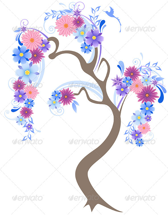 GraphicRiver Flowering Tree 4577562