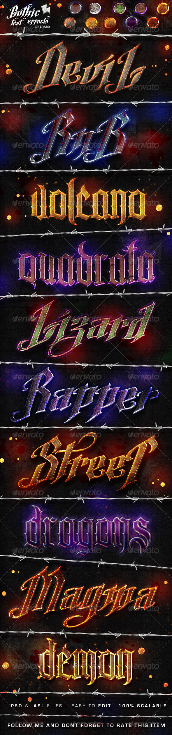 Gothic Text Effects - Photoshop Styles - Text Effects Styles