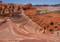 Man Taking a Photo of the Fire Wave Sandstone Formation - PhotoDune Item for Sale