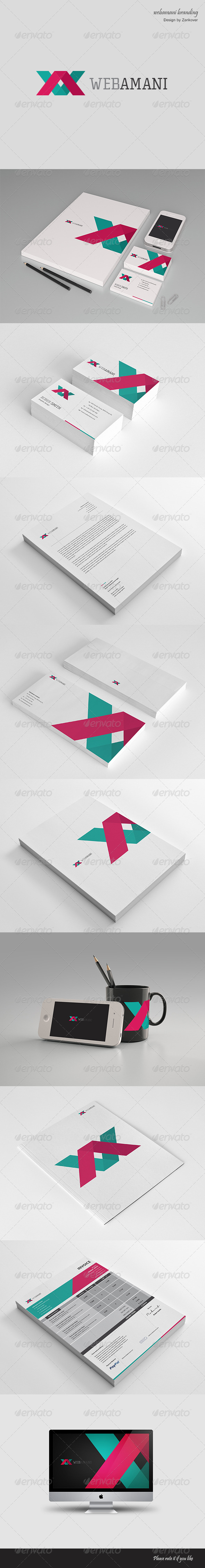 GraphicRiver Webamani Modern Stationary & Invoice 4578202