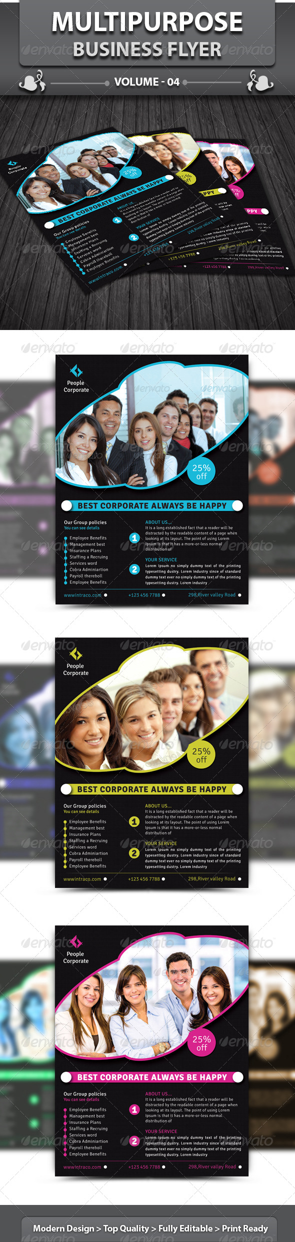 GraphicRiver Multipurpose Business Flyer V 4 4413384