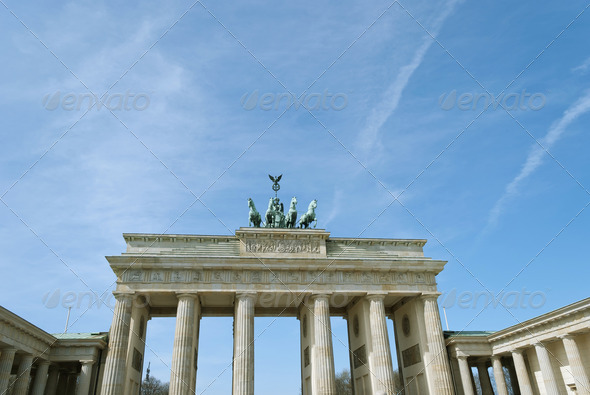 Brandenburg Gate Berlin - Stock Photo - Images
