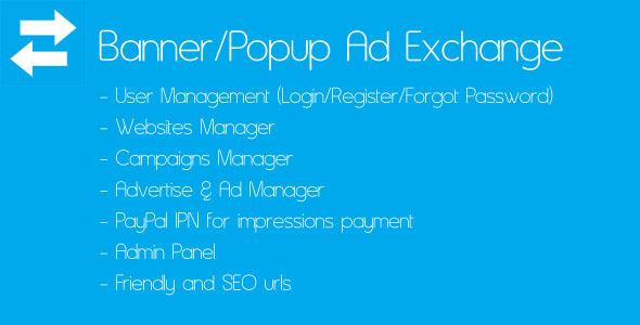 CodeCanyon Banner Popup Ad Exchange 4581179