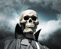 grim reaper. death's skeleton on a cloudy dramatic sky - PhotoDune Item for Sale