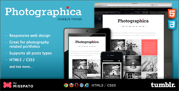 ThemeForest Photographica Tumblr Theme 4565522