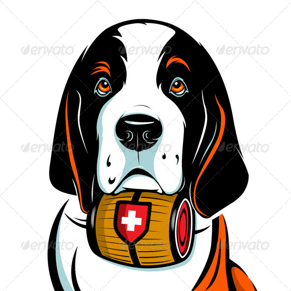 GraphicRiver Saint Bernard Dog Face 4380291