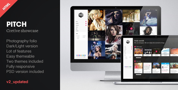 Pitch - Responsive creative showcase - Creative Site Templates