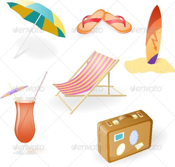 GraphicRiver Beach Set 4583818