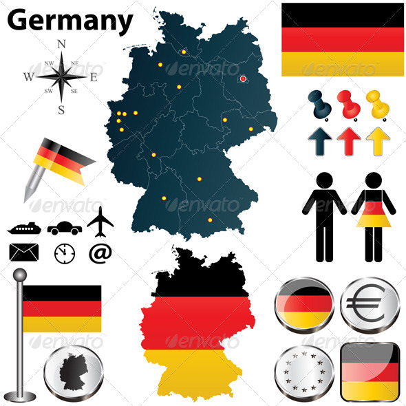 GraphicRiver Map of Germany with Regions 4583943