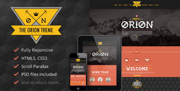 ThemeForest Orion Responsive Parallax One Page Portfolio 4584246