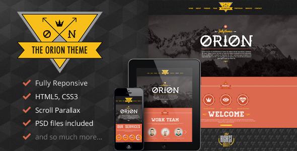 ThemeForest Orion Responsive Parallax One Page Portfolio 4584246