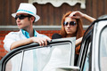 Young couple with a classic car - PhotoDune Item for Sale