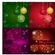 Set Christmas Card with Holiday Elements - GraphicRiver Item for Sale