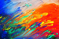 Colorful abstract acrylic painting - PhotoDune Item for Sale
