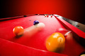 Billards pool game. Breaking the color ball from triangle - PhotoDune Item for Sale