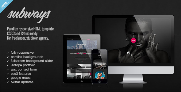 Subways - Onepage Retina Parallax Template - Creative Site Templates