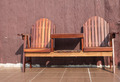 wood chairs on terrace - PhotoDune Item for Sale