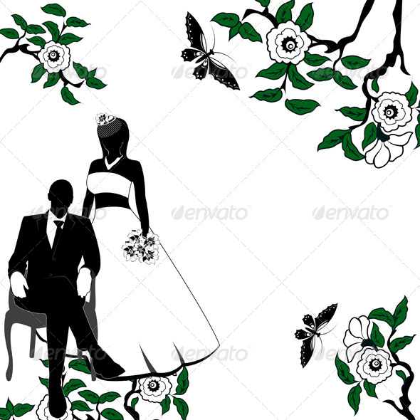 free download wedding party silhouette template stock photos graphics. Black Bedroom Furniture Sets. Home Design Ideas