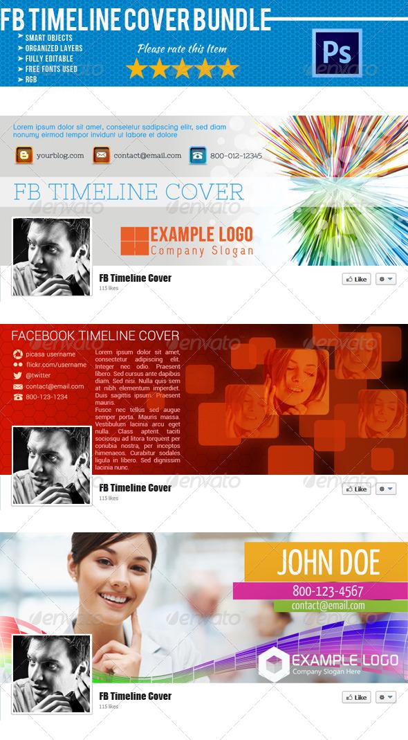 GraphicRiver Facebook Timeline Cover Bundle 03 4587681