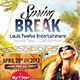 Spring / Summer Break | Flyer + Facebook Cover - GraphicRiver Item for Sale