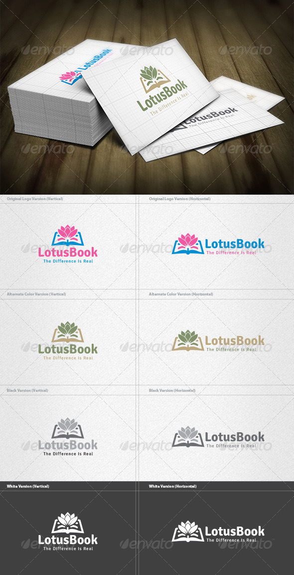 Lotus Book Logo - Symbols Logo Templates