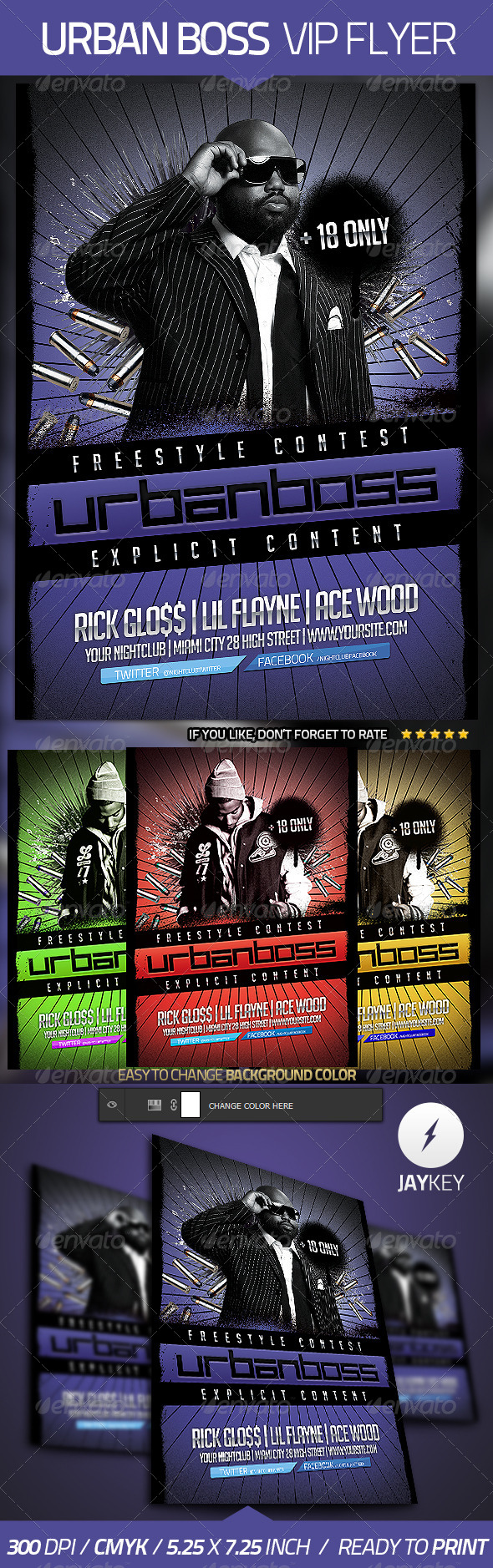 GraphicRiver Urban Boss Flyer Template 4588622