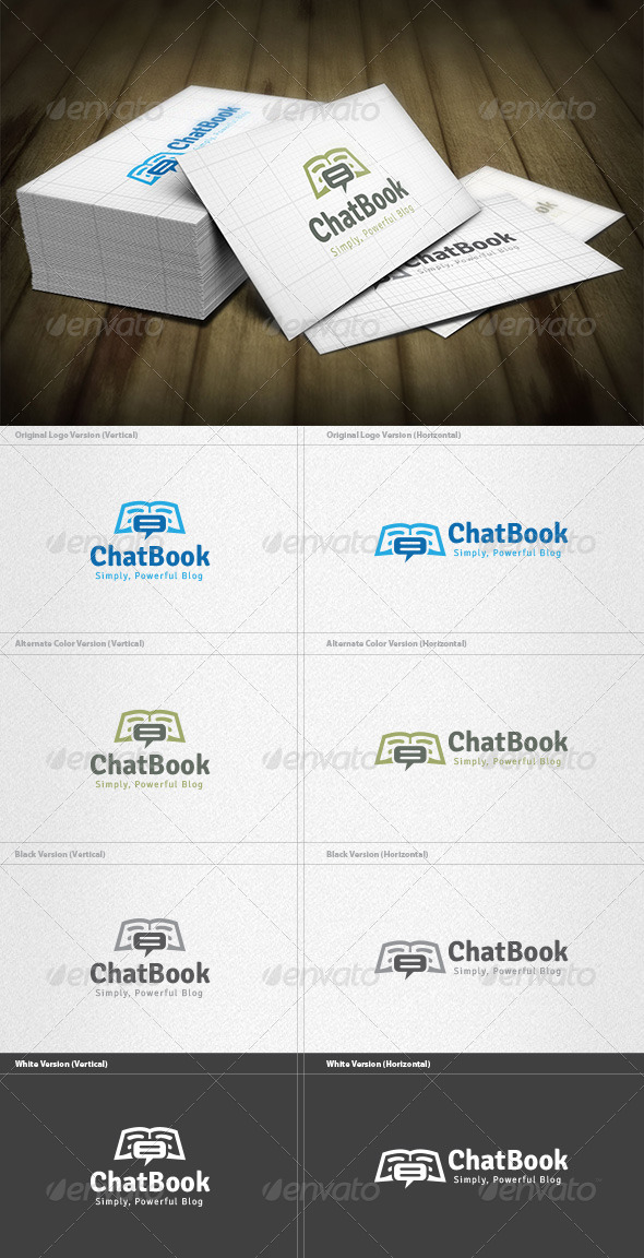 Chat Book Logo - Symbols Logo Templates