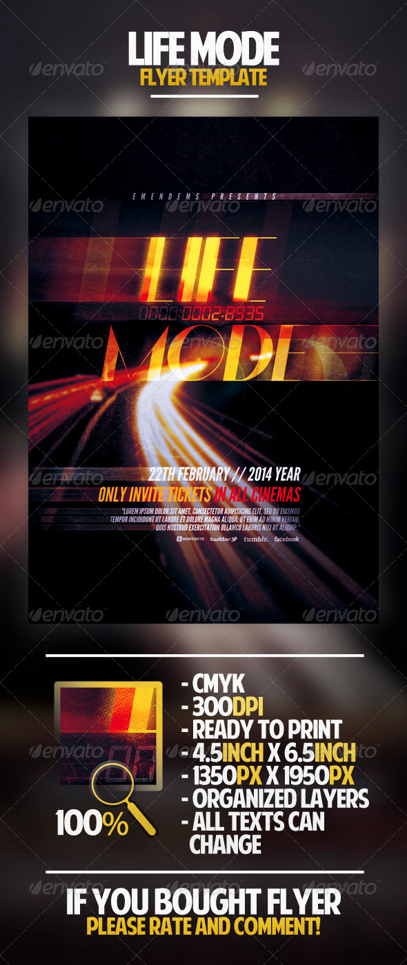 GraphicRiver Life Mode Flyer Template 4460436
