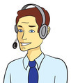 Customer support man talking with headset - PhotoDune Item for Sale