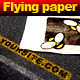 Flying paper on the highway - VideoHive Item for Sale