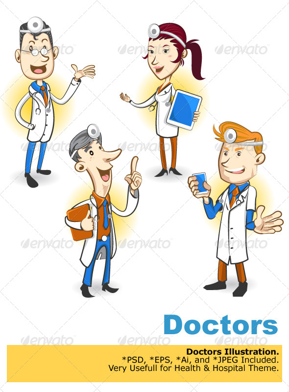 GraphicRiver Doctor Character 4589629
