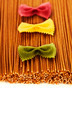whole wheat spaghetti and Farfalle pasta - PhotoDune Item for Sale